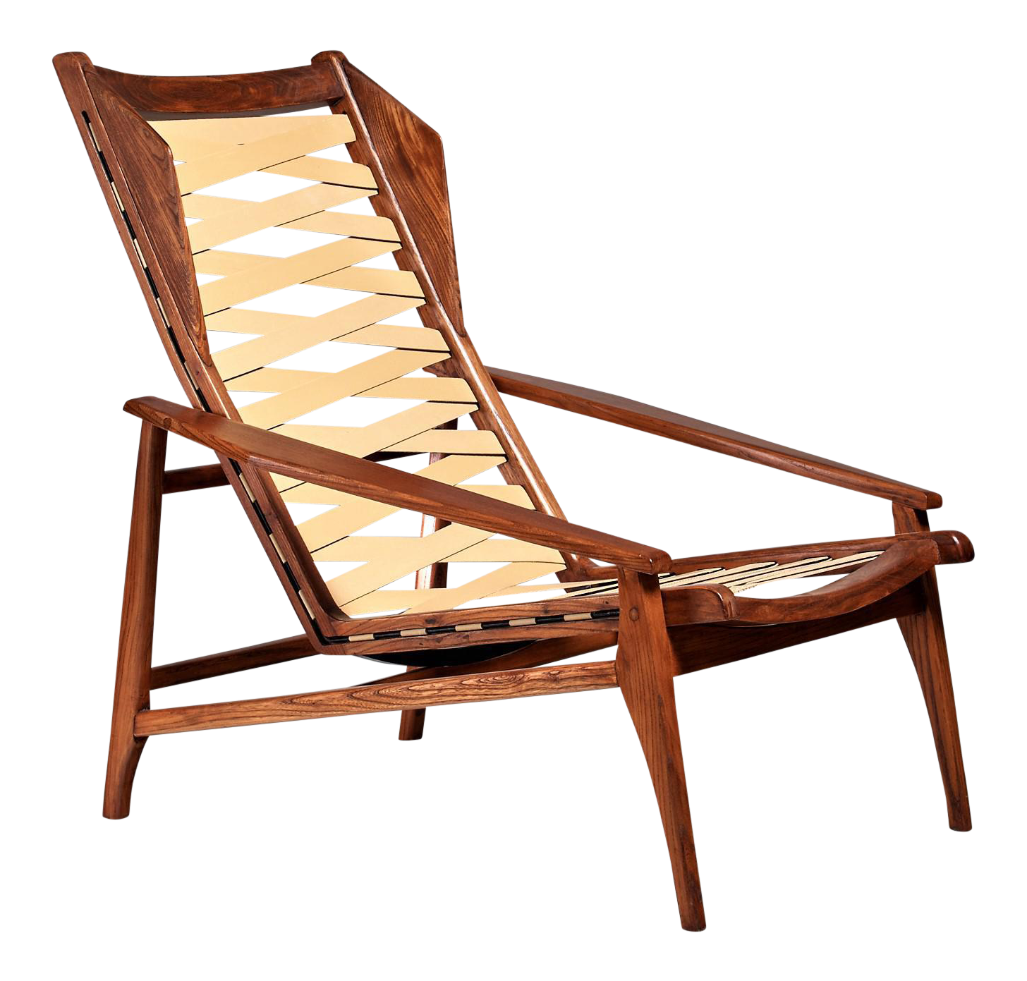 Customizable Variation On Gio Ponti Lounge Chair, Italy, 1950s   Image 1 Of  5