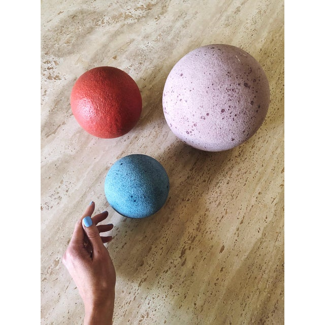 Purple Artist Made Post Modern Sphere Trio - Set of 3 For Sale - Image 8 of 8
