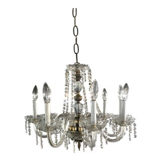 Mid-Century Crystal Chandelier For Sale