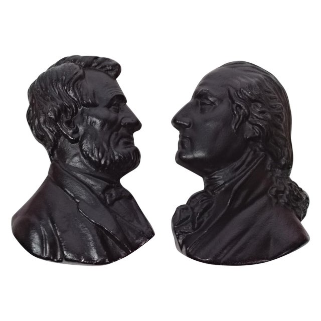 Presidents Cast Iron Wall Decor - A Pair - Image 1 of 6