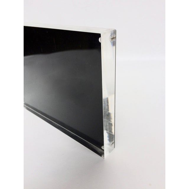 Black Metal & Lucite Standing Photo Frame - Image 3 of 4