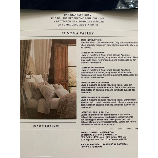 2010s Ralph Lauren Sonoma Valley Natural Standard Pillow Sham For Sale - Image 5 of 7