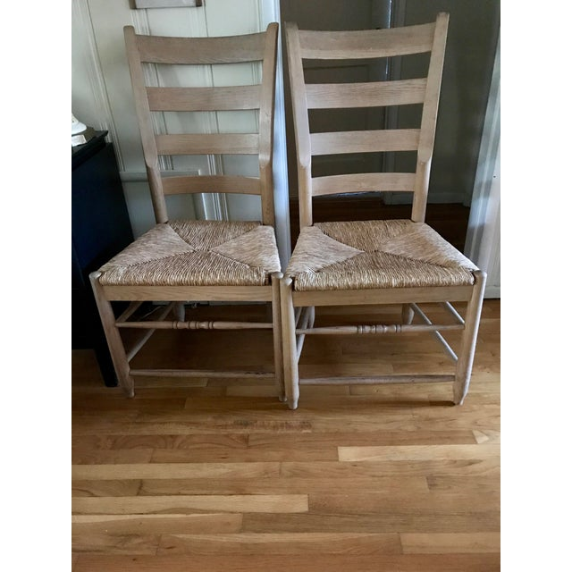 Pair of Natural Wood Italian Gio Ponti Style Ladder Back Chairs - Image 2 of 10