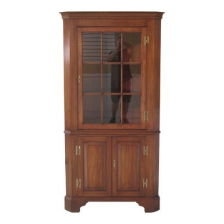 1950's Henkel Harris Cherry Corner China Cabinet For Sale