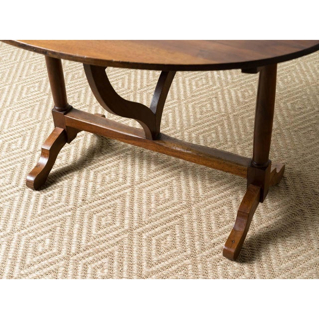 Antique 1900s French Mahogany Wine Table For Sale - Image 4 of 6