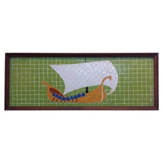 Framed Danish Modern Mosaic Panel For Sale