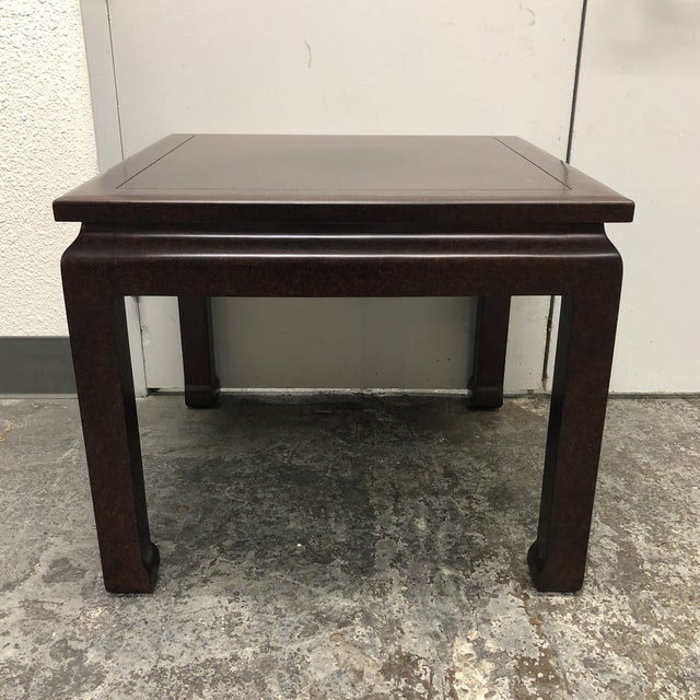 Custom Asian Inspired Square Table For Sale - Image 9 of 9
