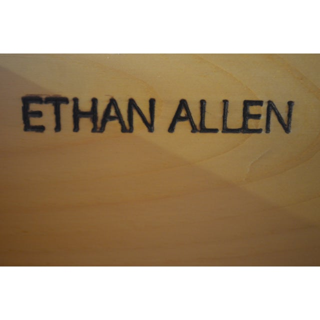 Ethan Allen Farmhouse Pine Gentlemans Tall Chest For Sale - Image 10 of 13