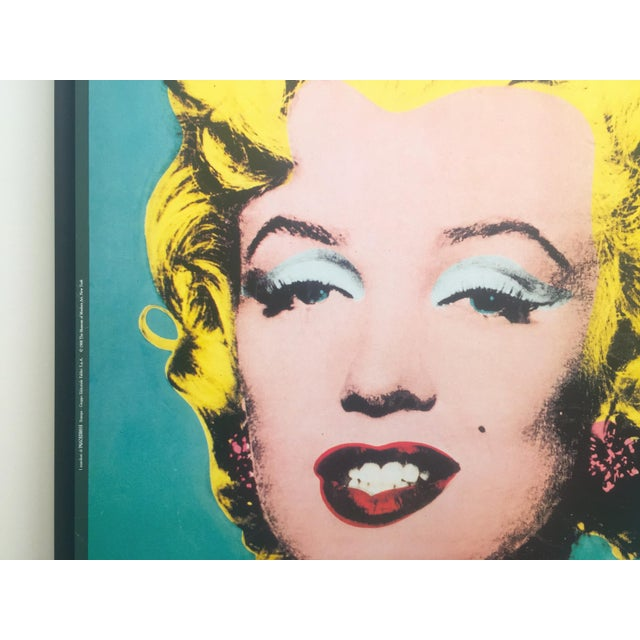 "1980s Andy Warhol Vintage 1988 Lithograph Print Framed Pop Art Poster "" Marilyn "" 1964 For Sale - Image 5 of 13"