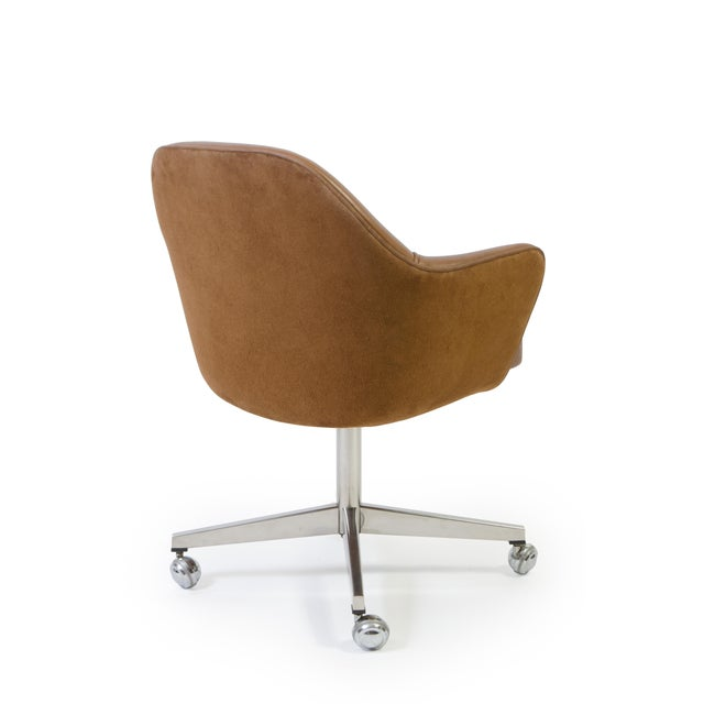 Saarinen for Knoll Saddle Leather & Suede Desk Chair - Image 4 of 9