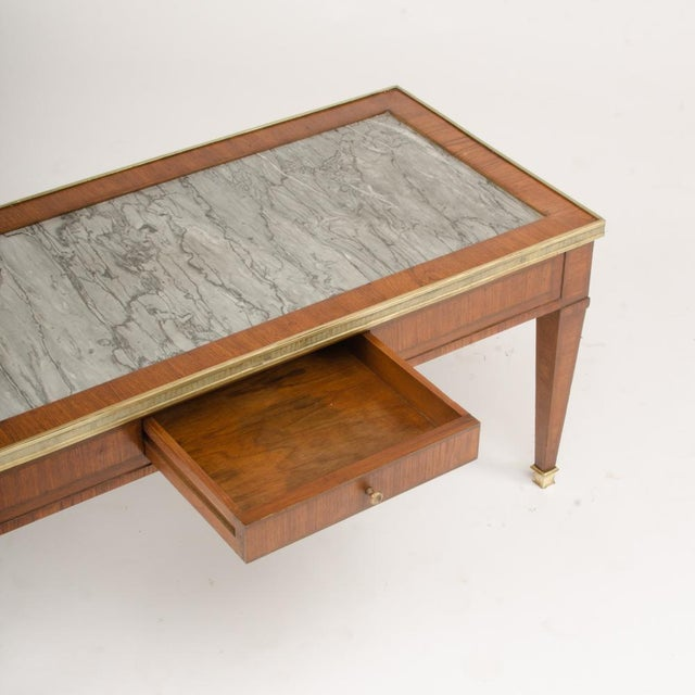 1940s 1940 French Directoire Style Mahogany Coffee Table For Sale - Image 5 of 6