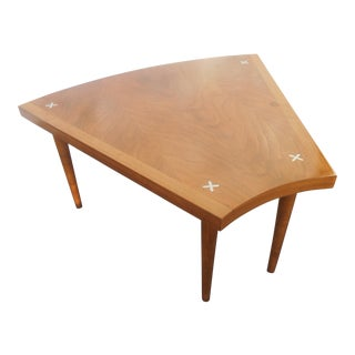 1960's Mid-Century Modern Merton Gershon for American of Martinsville Wedge Table For Sale