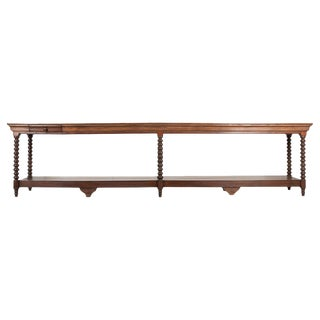French Louis XIII-Style Oak Drapery Table For Sale