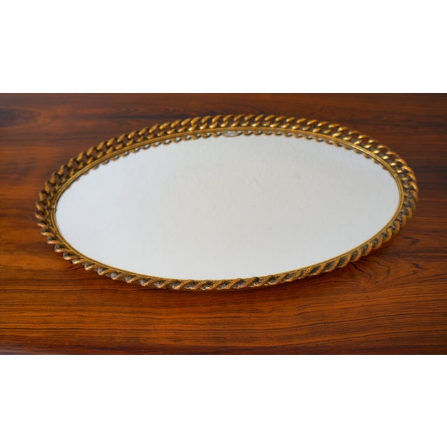 Vintage Gold Chain Mirror Tray - Image 4 of 4