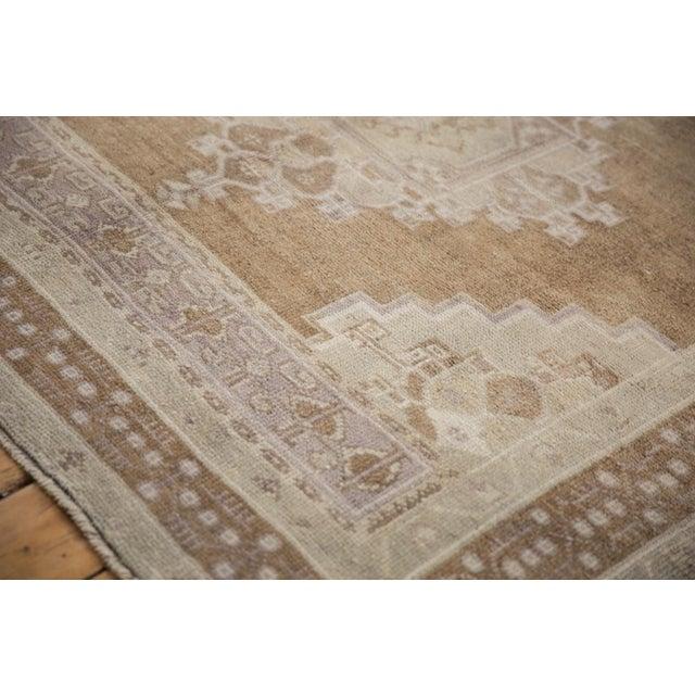 "Vintage Distressed Oushak Carpet - 5'7"" X 8'3"" For Sale - Image 9 of 11"