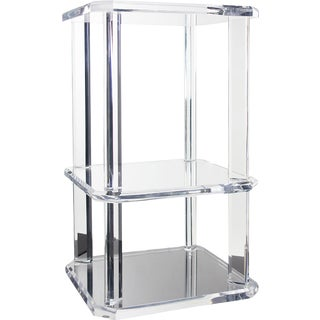 Vintage Lucite Side Table and Shelf For Sale