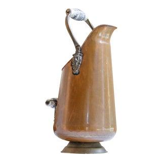 Dutch Copperware Copper Coal Scuttle For Sale