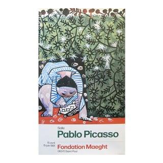 """1981 Pablo Picasso """"Enfant Jouant Avec Un Camion"""" Exhibition Poster For Sale"""