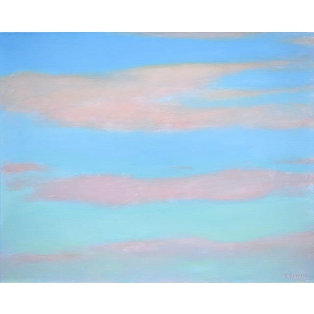 """Modern """"Layered Clouds"""" Contemporary Painting by Stephen Remick For Sale - Image 11 of 11"""