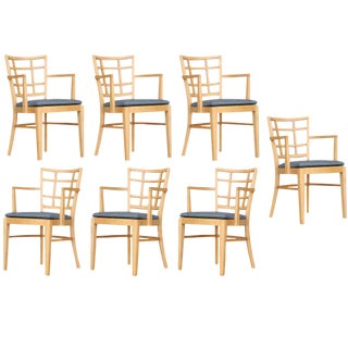 Paul Frankl for Brown Saltman Dining Chair- Set of 7 For Sale