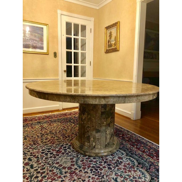 Mid-Century Modern Mid 20th Century Mid-Century Round Marble Dining Table For Sale - Image 3 of 13