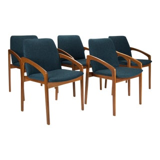 Kai Kristiansen for Ks Mobler Teak Dining Chairs - Set of 5
