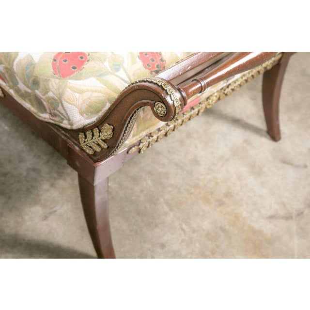 Early 19th Century French Empire Period Mahogany Lit De Repos Chaise Longue For Sale - Image 10 of 11