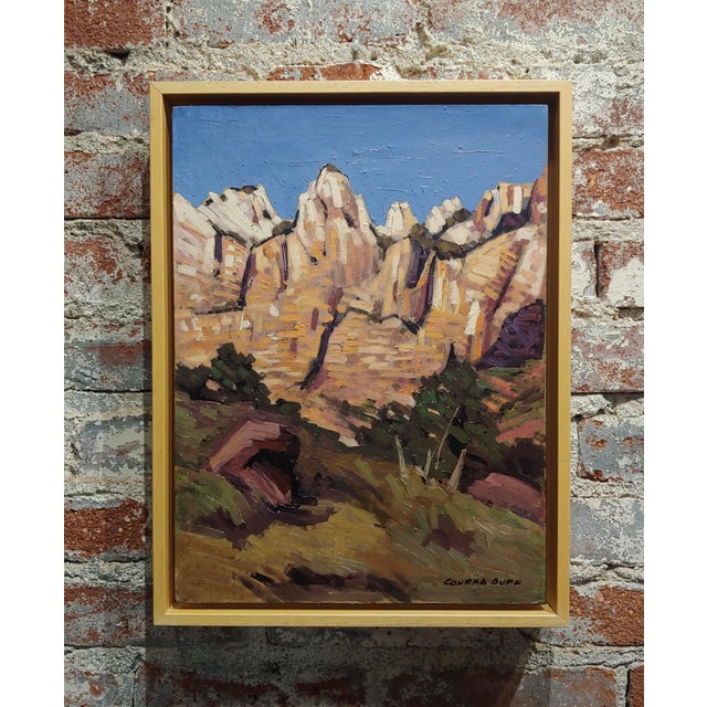 "Conrad Buff ""Rugged Cliffs Landscape"" Oil Painting For Sale - Image 9 of 9"