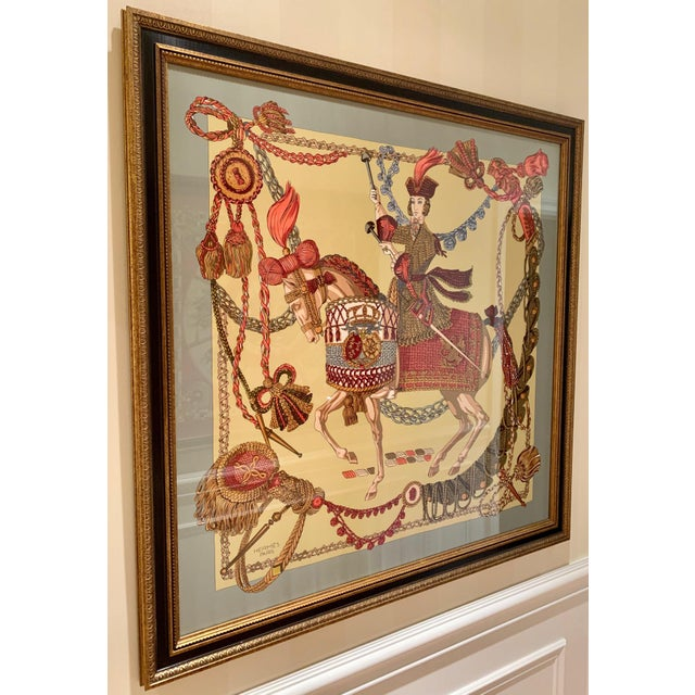 Professionally framed Vintage Emperor Hermés Scarf. Purchased the scarf from Hermés Americana Manhasset and had it...