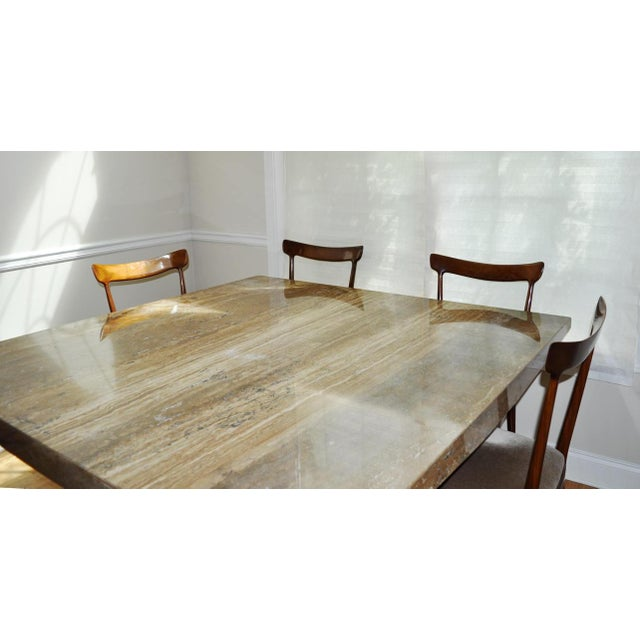 Pleasant Italian Travertine Marble Dining Table Download Free Architecture Designs Boapuretrmadebymaigaardcom