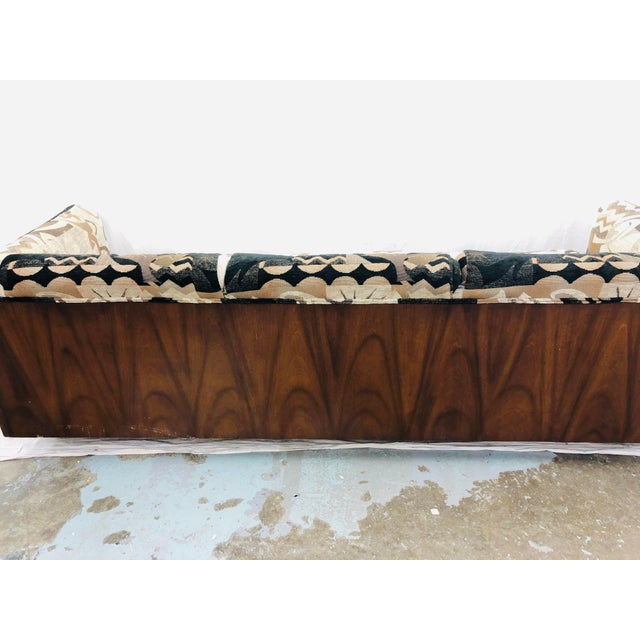 Mid Century Modern Wood Framed Sofa For Sale - Image 10 of 13