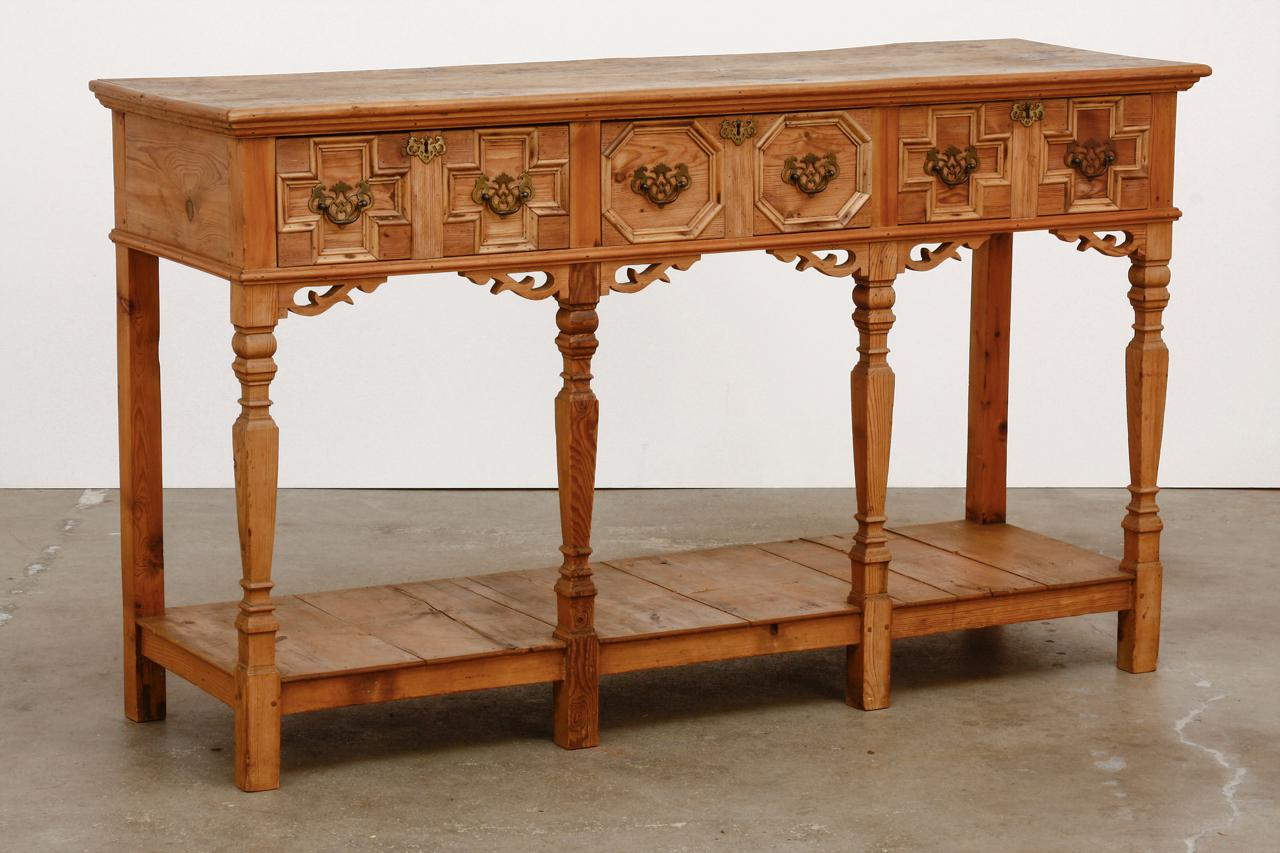 Spanish Baroque Style Pine Console Table Or Server Chairish