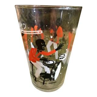1930s Jazzmen Printed Glass Tumbler