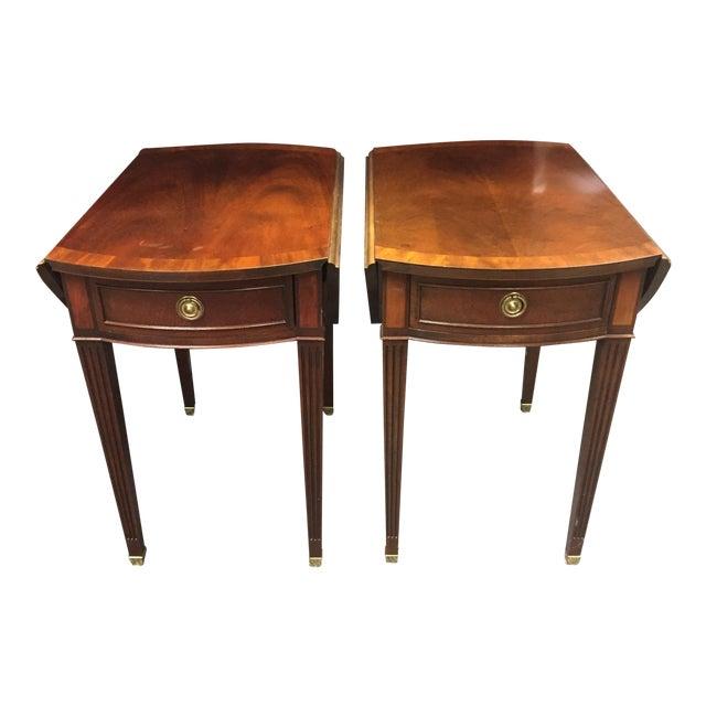 Baker Drop Leaf Side Tables - Pair For Sale