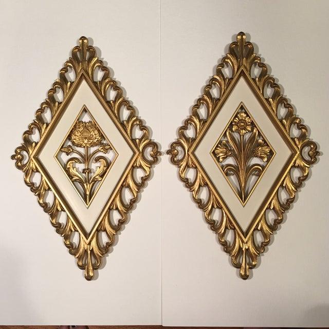 1964 Vintage Strict Diamond Botanical Wall Plaques - Set of 2 - Image 2 of 10