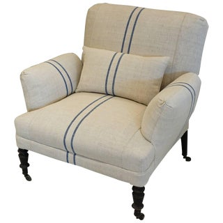 Antique French Napoleon III Original Armchair For Sale