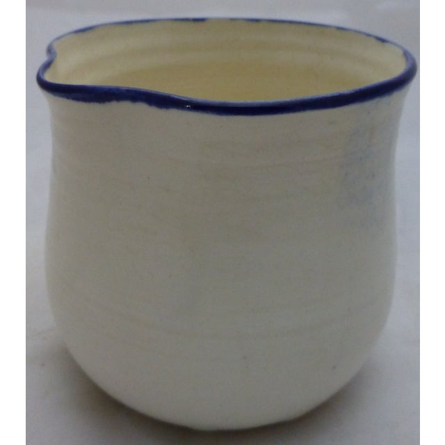 Mid-Century Blue and White Studio Pottery Beaker - Image 3 of 6