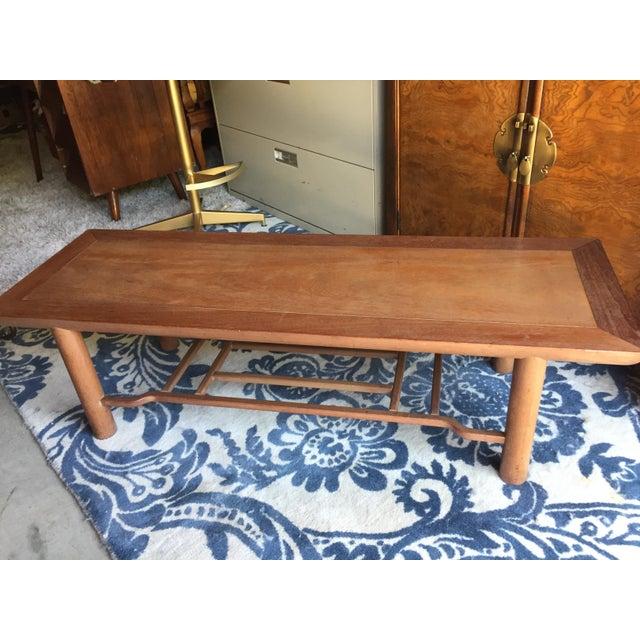 Mid-Century Modern Heritage Henredon Mahogany Coffee Table For Sale - Image 3 of 12