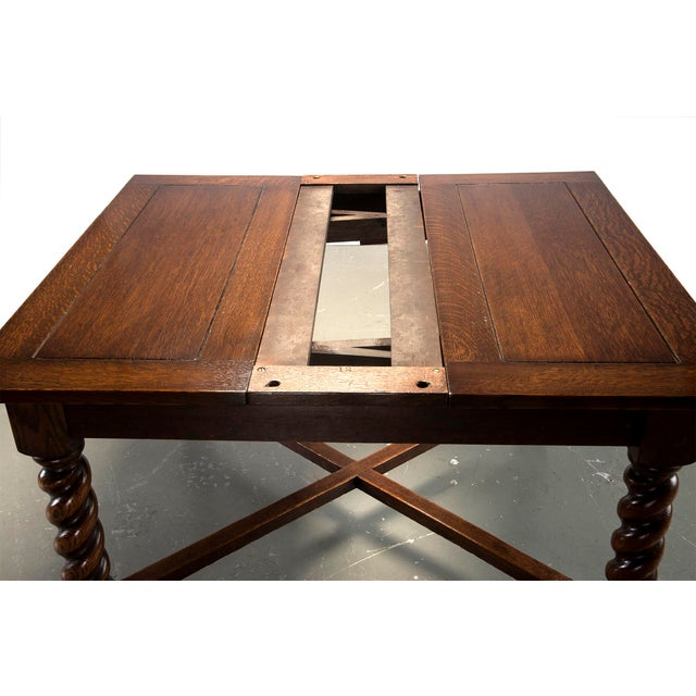 Dutch Oak Refectory Table with Large Barley Twist Legs - Image 4 of 6