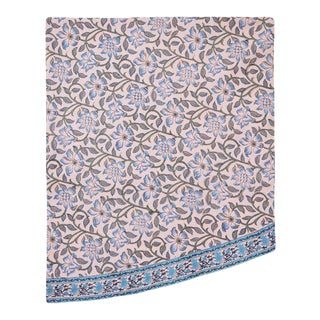 Naaz Dusty Pink Round Tablecloth, 120-Inch For Sale