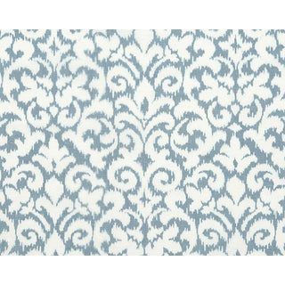 Hinson for the House of Scalamandre Swirl Fabric in Blue For Sale