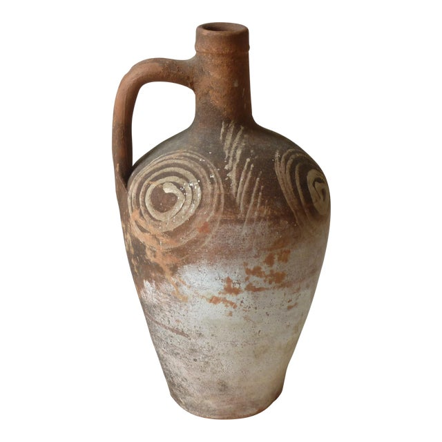 Rustic Terra Cotta Jug For Sale