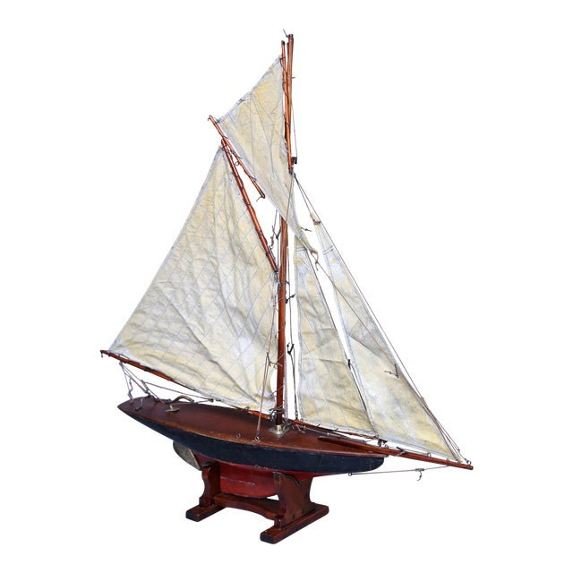 19th-Century English Pond Yacht Schooner For Sale