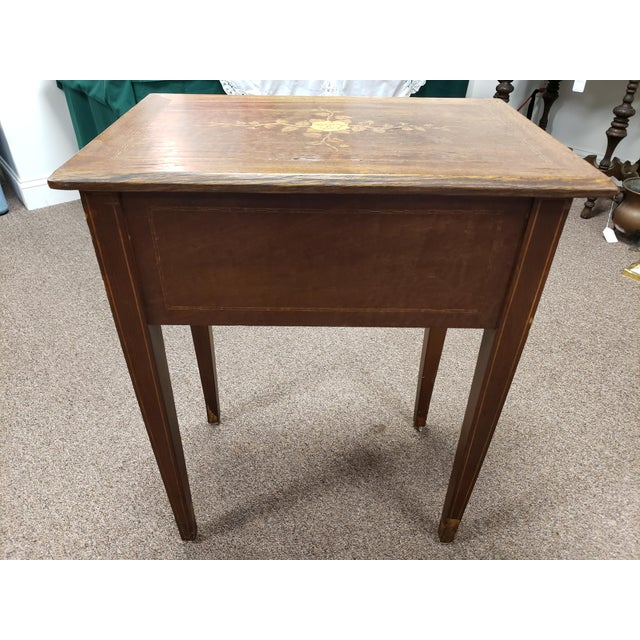 Antique 19th Century Inlaid Wooden Dressing/Vanity Table For Sale - Image 9 of 13