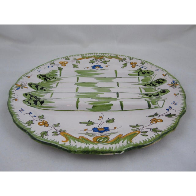 1960s French Martres TolosaneFaïence Asparagus Service, S/10 For Sale - Image 5 of 10