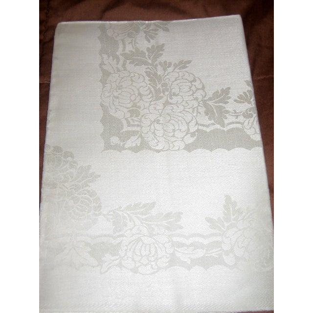 Pure Irish Linen Double-Damask Napkins - Set of 6 - Image 4 of 4
