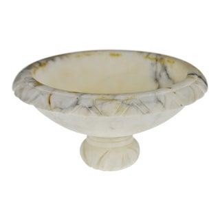 Vintage Alabaster Compote Mortar Dish For Sale