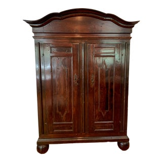 Antique Swedish Baroque Armoire For Sale