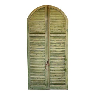 Antique French Wood Shutters - A Pair