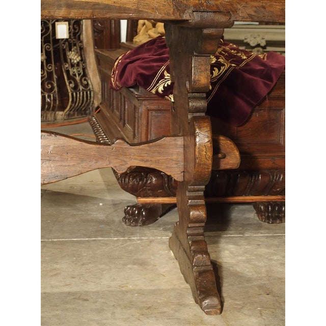 17th Century Italian Walnut Wood Table For Sale In Dallas - Image 6 of 13